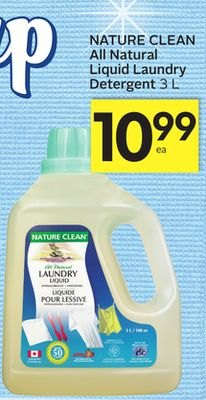 Nature Clean All Natural Liquid Laundry Detergent