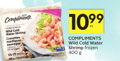 Compliments Wild Cold Water Shrimp
