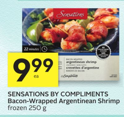 Sensations By Compliments Bacon-wrapped Argentinean Shrimp