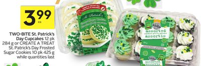 Two-bite St. Patrick's Day Cupcakes