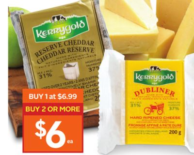 Kerrygold Irish Reserve or Dubliner Cheddar Cheese