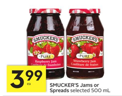 Smucker's Jams or Spreads