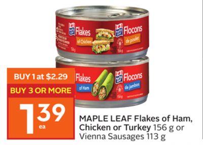 Maple Leaf Flakes of Ham - Chicken or Turkey