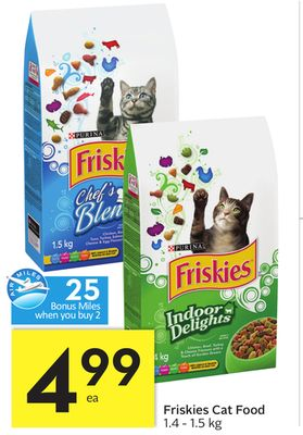 Friskies Cat Food - 25 Air Miles Bonus Miles