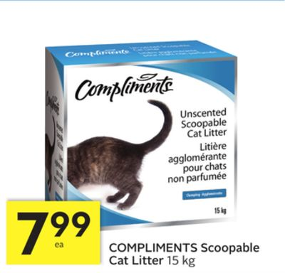 Compliments Scoopable Cat Litter