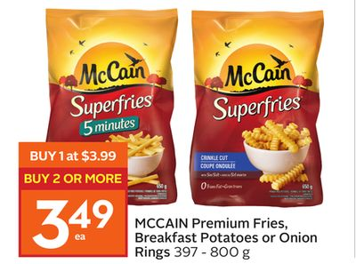 Mccain Premium Fries - Breakfast Potatoes or Onion Rings