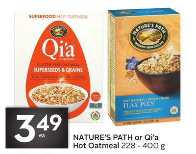 Nature's Path or Qi'a Hot Oatmeal