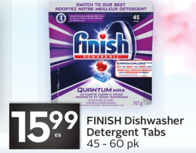 Finish Dishwasher Detergent Tabs - 10 Air Miles Bonus Miles