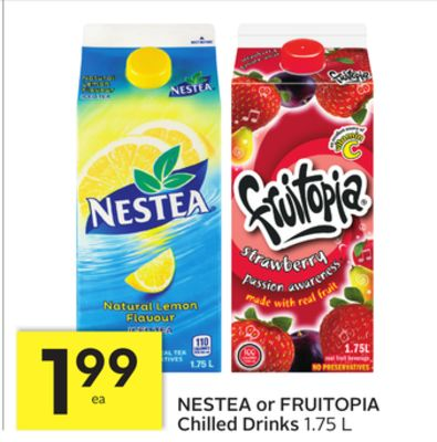 Nestea or Fruitopia Chilled Drinks