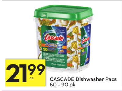 Cascade Dishwasher Pacs