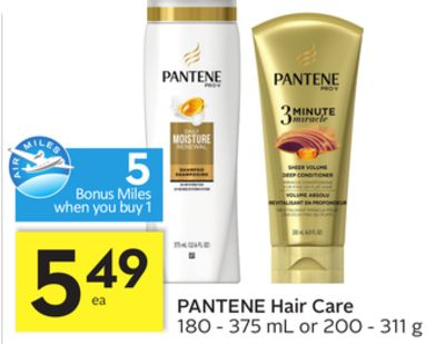 Pantene Hair Care - 5 Air Miles Bonus Miles