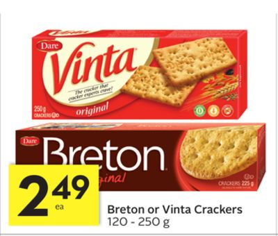 Breton or Vinta Crackers