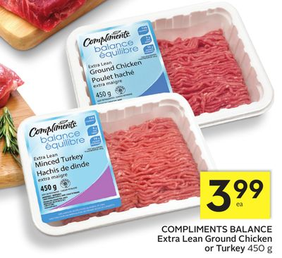 Compliments Balance Extra Lean Ground Chicken or Turkey