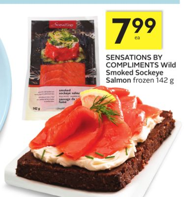 Sensations By Compliments Wild Smoked Sockeye Salmon