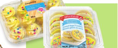 Create A Treat Frosted Sugar Cookies or Compliments Mini Iced Cupcakes