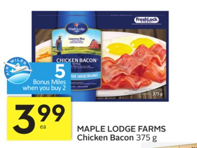 Maple Lodge Farms Chicken Bacon - 5 Air Miles Bonus Miles