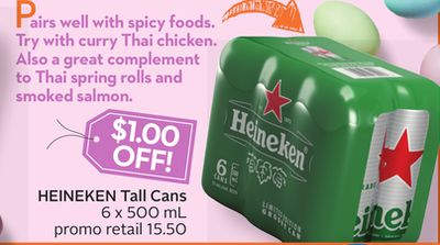 Heineken Tall Cans