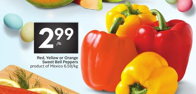 Red - Yellow or Orange Sweet Bell Peppers