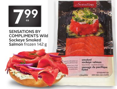 Sensations By Compliments Wild Sockeye Smoked Salmon