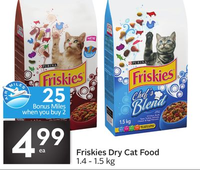 Friskies Dry Cat Food 25 Air Miles Bonus Miles