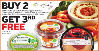 Sensations By Compliments Topped Hummus Compliments Naturally Simple Dips - Hummus or Salsa or Compliments 6-layer Dip