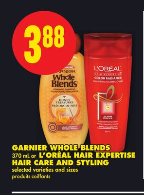Garnier Whole Blends 370 mL or L'oréal Hair Expertise Hair Care And Styling