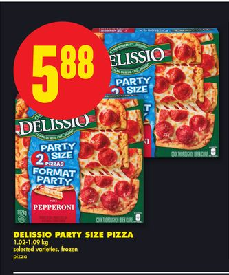 Delissio Party Size Pizza