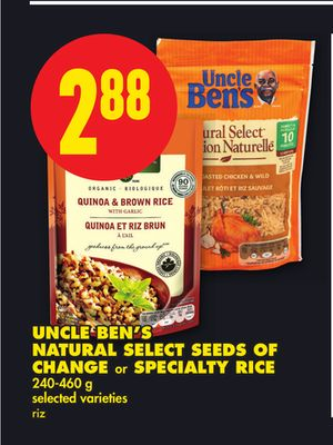 Uncle Ben's Natural Select Seeds Of Change or Specialty Rice - 240-460 g
