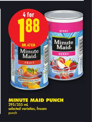 Minute Maid Punch - 295/355 mL