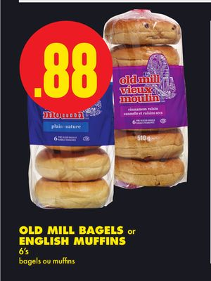 Old Mill Bagels Or English Muffins - 6's