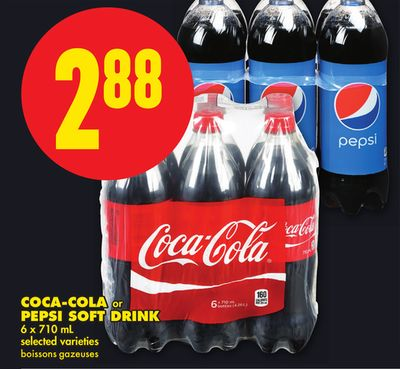 Coca-cola Or Pepsi Soft Drink - 6 X 710 mL