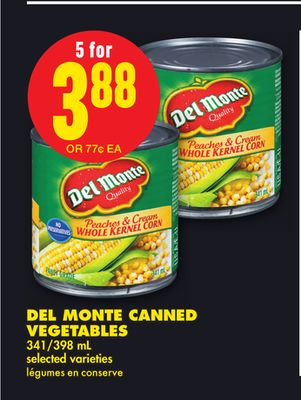 Del Monte Canned Vegetables