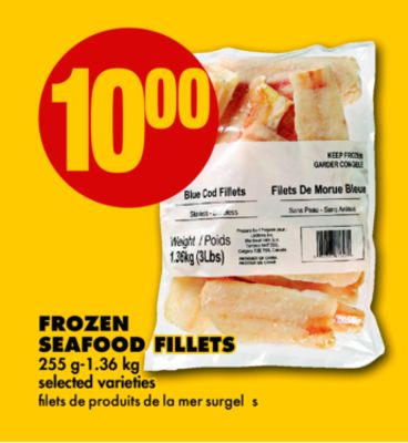 Frozen Seafood Fillets - 255 G-1.36 Kg