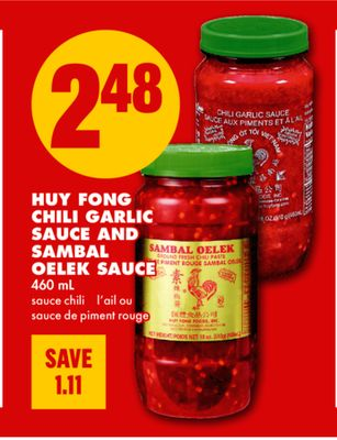 Chili Garlic Sauce And Sambal Oelek Sauce - 460 mL