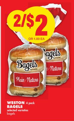 Weston 4 Pack Bagels