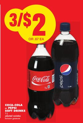 Coca-cola or Pepsi Soft Drinks 1 L