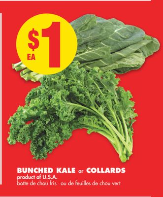 Bunched Kale or Collards