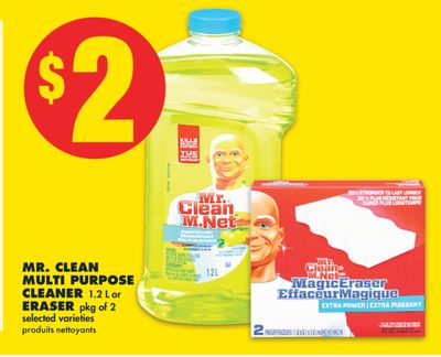 Mr. Clean Multi Purpose Cleaner 1.2 L or Eraser