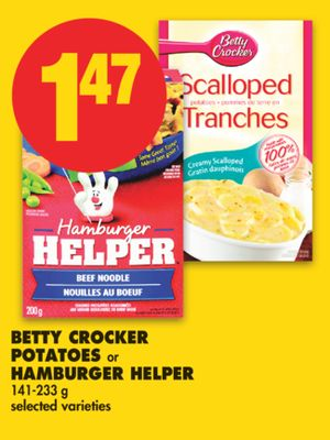 Betty Crocker Potatoes or Hamburger on sale | Salewhale.ca
