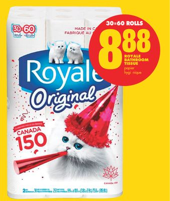 Royale Bathroom Tissue - 30=60 Rolls