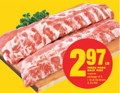 Fresh Pork Back Ribs - Package of 2