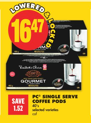 PC Single Serve Coffee PODS - 40's