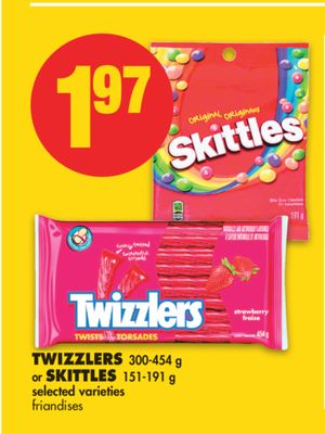 Twizzlers - 300-454 g or Skittles - 151-191 g