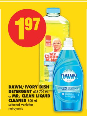 Dawn/ivory Dish Detergent - 638-709 mL or Mr. Clean Liquid Cleaner - 800 mL