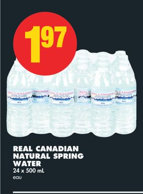 Real Canadian Natural Spring Water - 24 X 500 mL
