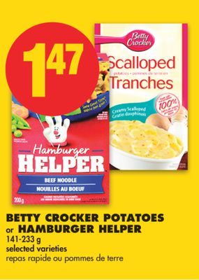 Betty Crocker Potatoes or Hamburger Helper - 141-233 g