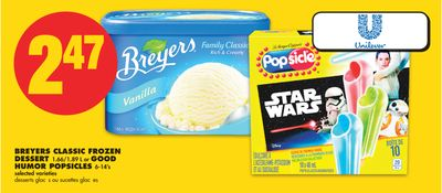 Breyers Classic Frozen Dessert - 1.66/1.89 L or Good Humor Popsicles - 6-14's