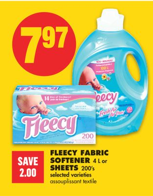 Fleecy Fabric Softener - 4 L or Sheets - 200's