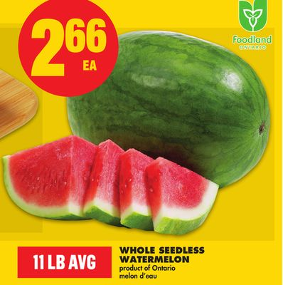 Whole Seedless Watermelon - 11 Lb Avg