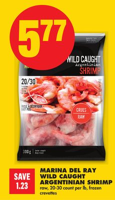 Marina Del Ray Wild Caught Argentinian Shrimp - 20-30 Count Per Lb